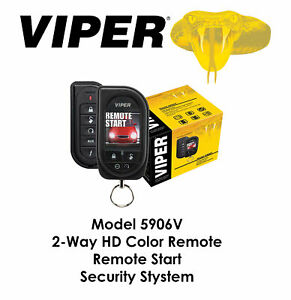 Viper Color OLED 2-Way Security and Remote Start System 1 Mile Range 5906V