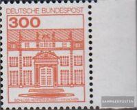 BRD (BR.Deutschland) 1143A Seitenrandstück postfrisch 1982 Burgen und Schlösser