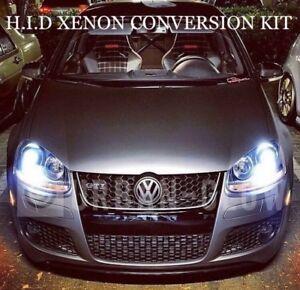 VW GOLF MK4 MK5 MK6 PREMIUM HID XENON CONVERSION KIT CANBUS PRO UPGRADE SCIROCCO