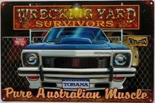 HOLDEN TORANA SS WRECKING YARD SURVIVORS ALL WEATHER TIN SIGN 450X300