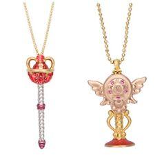 NEW 2018 Q-pot Sailor Moon Eternal Tiare & Holy Moon Chalice Necklace Set