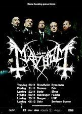 MAYHEM 2014 NORWAY CONCERT TOUR POSTER - Black Metal Music