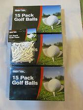 BRAND NEW GOLF BALLS X 45 PLUS 100 WOODEN GOLF TEES.