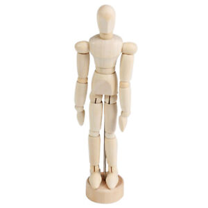 12 inch Wood Unisex Art Mannequin Wooden Sectioned Posable Human Figure Body
