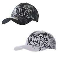 NWT Fox Men's Ball Sport Cap/Hat S/M Size FlexFit Black/White Xmas Gift