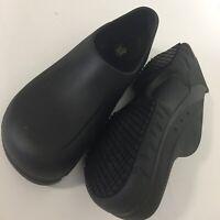 Shoes for crews slip & oil resistant Black mules unisex adult mens 9 womens 11