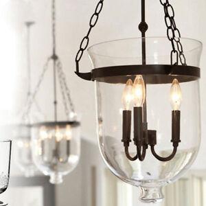 Glass Pendant Lights Kitchen Modern Ceiling Lamp Shop LED Chandelier Lighting