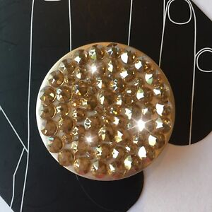 NEW Bling Authentic PopSocket Metallic GOLD Swarovski Crystals PopSockets iPhone