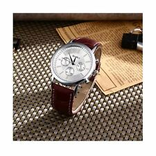 Luxury Silver Chrono Watch Time Elegant Business Present Man Gift UK Warranty