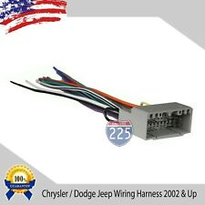 Car Stereo Wiring Harness for Aftermarket Radio Chrysler Dodge Jeep 2002 & UP