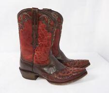 ARIAT Vera Cruz Overlay Brown Red Leather Western Redwood Cowgirl Boots Women 10