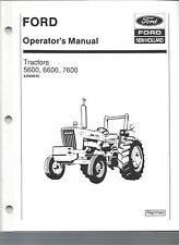 FORD 5600, 6600, & 7600 Tractor Operators Manual, 1975 to 12/1981 42560030