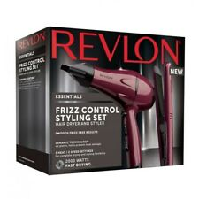 Revlon Frizz Control Ceramic 2000W Dryer & Straightner Styler Styling Gift Set