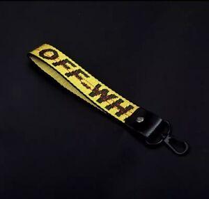 Off White Keychain Yellow Lanyard