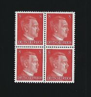 MNH stamp block / Adolph Hitler / PF08 / WWII Germany / 1941 Third Reich issue