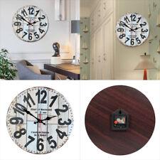 Horloge murale silencieuse bois non coutil balayage numérique Home Decor Vintage