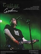 Joseph Rojas (Seventh Day Slumber) Godin LGX-SA guitar ad 8 x 11 advertisement