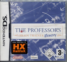 THE PROFESSOR'S BRAIN TRAINER MEMORY - NINTENDO DS NUOVO E SIGILLATO, ITALIANO