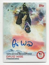 2014 Topps USA Olympic Team Authentic Autograph #94 David Wise Freeskiing