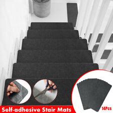 14Pcs 20x55cm Non Slip Stair Treads Carpet Self-Adhesive Rug Runner Mats Covers