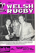 MAX BOYCE & TEAM IN AUSTRALIA - COBNER PLAYER OF YEAR - WELSH RUGBY (June 1978)