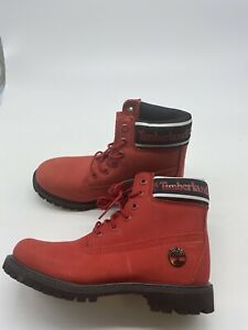 TIMBERLAND WOMEN'S PREMIUM 6 INCH WATERPROOF NUBUCK LEATHER BOOTS size 7 Y275