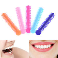 20Pcs 1Pack Dental Ligature ties Orthodontics Elastic Rubber Bands Multi ColorST