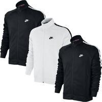 Mens Nike Full Zip Track Top Jacket Tribute Sports Jackets Tracksuit Black White