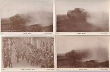 Lot 4 Original Wwi Rppc Photo Postcards Canadian British Mark I Tanks & Pows 18