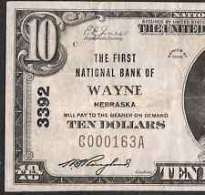 $10 1929  ❀❀ Wayne, NE ❀❀    PCGS VF 25 PPQ   RARE NOTE