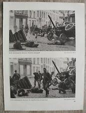 Blatt 1914-18 Antwerpen Belgien Tote Soldaten Morts Strassenkampf Straße WW 1.WK