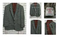 """Mens Vintage HARRIS TWEED herringbone wool blazer jacket size 50"""""""