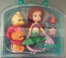 "DISNEY ANIMATOR'S PRINCESS ARIEL MINI 5"" DOLL PLAY SET FLOUNDER CARRY CASE"