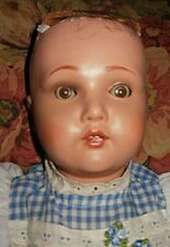 Vintage 1950s Unica Belgium doll, 18-in, Needs Wig & Clothes