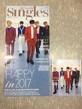BTS Unfolded Poster With TubeCase (Singles Korea magazine JAN.2017) Only Poster
