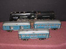 1935 Lionel 'O': 265E Locomotive w/ 600, 601, 602 Blues cars. Running RTR C-6 bd