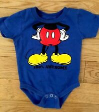 MICKEY MOUSE DISNEYLAND Infant One Piece Outfit Size 6 Months - EUC