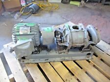 ROOTS XA ROTARY POSITIVE GAS PUMP (BLOWER) W/MOTOR, #78953J USED