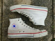 Converse All Star Hi MADE IN USA White tag 9.5 US (approx. UK 9) Vintage Chuck