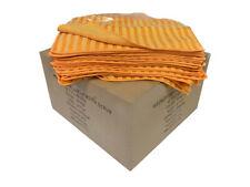 "Case 96 14""x14"" Microfiber Scrub Cleaning Cloths 340GSM (Orange)"