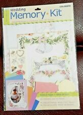 COLORBOK Wedding MEMORY Scrapbooking KIT makes 8 pages - over 45 pieces - New