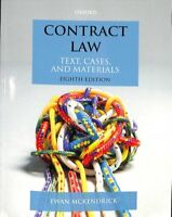 Contract Law Text, Cases, and Materials by Ewan McKendrick 9780198808169