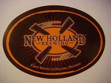 BEER Sticker ~ NEW HOLLAND Brewing ~ Craft Brewed in Holland, MICHIGAN; Est 1997