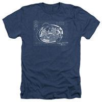 Star Trek The Original Sci-Fi TV Series Bridge Blueprint Adult Heather T-Shirt