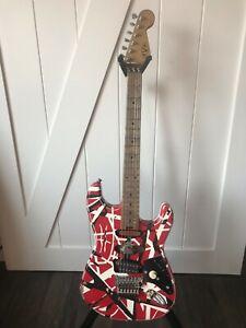EVH Striped Series Frankenstein Frankie Guitar Red/ Black/ White Relic