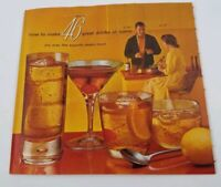 1960's Vintage 46 Party Bartender Drink Maker Recipe Booklet