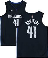 Dirk Nowitzki Dallas Mavericks Autographed Navy Nike Authentic Jersey