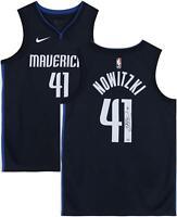 Dirk Nowitzki Dallas Mavericks Autographed Navy Nike Authentic Jersey