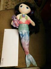 "Rare First & Main 18"" Fantasea Friends Luna Mermaid Doll Shelf sitter Plush Toys"