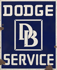 """DODGE SERVICE"" ADVERTISING METAL SIGN"